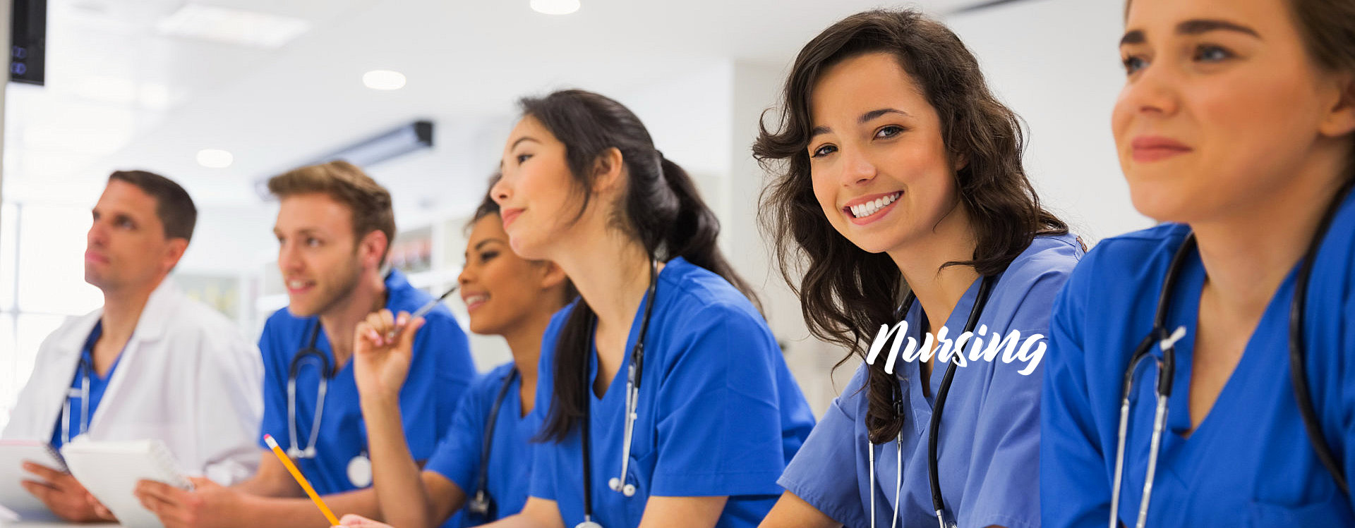 nurses listening to a session